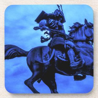 Samurai On Warhorse Drink Coaster