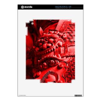 Samurai Oni Mask 赤鬼 Decal For iPad 2