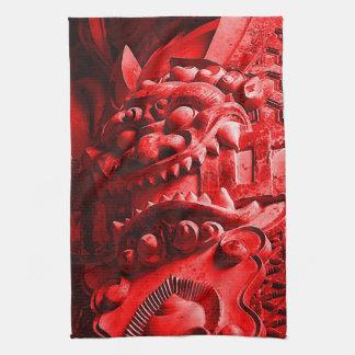 Samurai Oni Mask 赤鬼 Towel