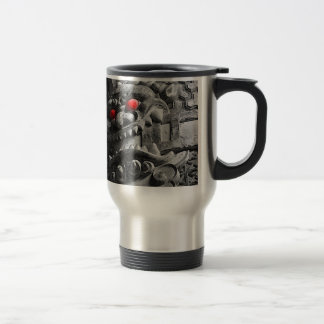 Samurai Oni Mask 赤鬼 Travel Mug