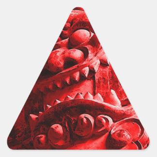 Samurai Oni Mask 赤鬼 Triangle Sticker