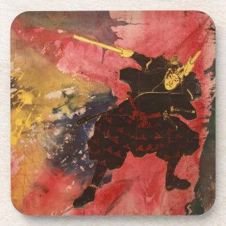Samurai Painting Drink Coaster
