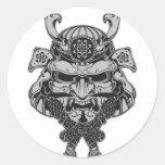 Samurai Pegatina Redonda