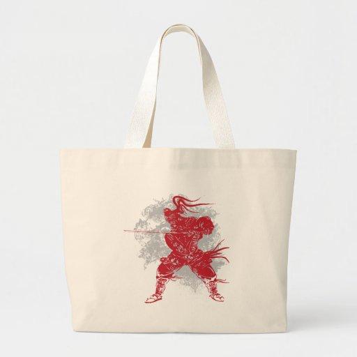 Samurai Pose Tote Bag