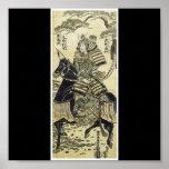 Samurai-Poster de los últimos 1750's de pintura ja