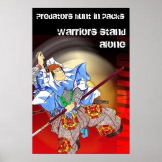 samurai Predators hunt in packs Warriors stan Print