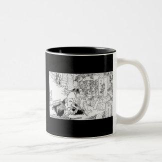 Samurai que confía Hara-Kiri Tazas De Café