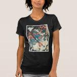 Samurai que mata a un demonio, pintura japonesa an camisetas