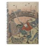 Samurai que usa dos espadas en batalla circa 1810 libretas