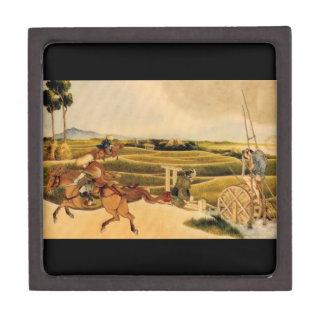 Samurai Riding On Horses Premium Gift Box