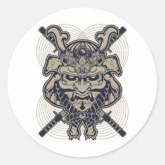 Samurai Rising Classic Round Sticker