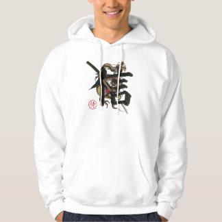Samurai, Ronin, dragón, espada, Yakuza, sudadera
