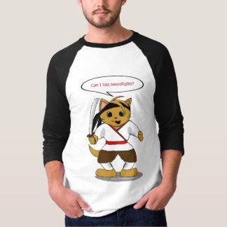Samurai Security Cat T Shirt