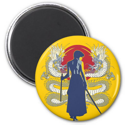 Samurai Seven 2 Inch Round Magnet