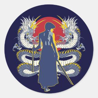 Samurai Seven Classic Round Sticker