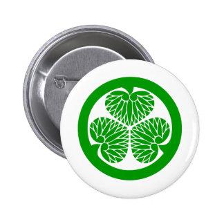 Samurai shamrock pinback button