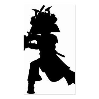 Samurai Silhouette Bookmark Business Cards