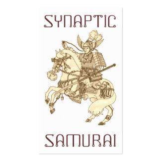 Samurai sináptico tarjetas de visita