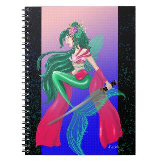 Samurai Siren Notebook/Journal Spiral Note Book