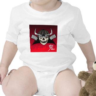 Samurai Skull Baby Bodysuit
