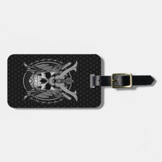 Samurai Skull Warrior Luggage Tag