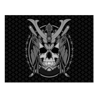 Samurai Skull Warrior Postcard