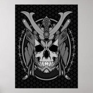 Samurai Skull Warrior Posters