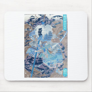 Samurai surfing on the backs of crabs c. 1800's mousepads