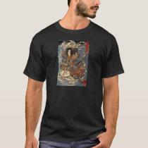 Samurai surfing on the backs of crabs c. 1800's T-Shirt