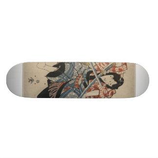 Samurai Sword Fight circa 1825 Custom Skate Board