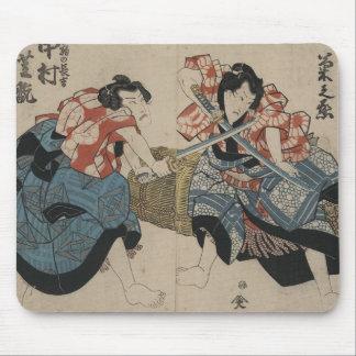 Samurai Sword Fight circa 1825 Mouse Pad