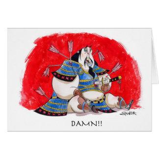 samurai tarjeta de felicitación