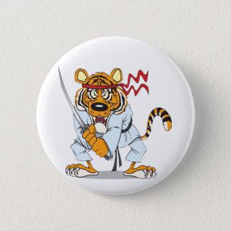 Samurai-Tiger Button