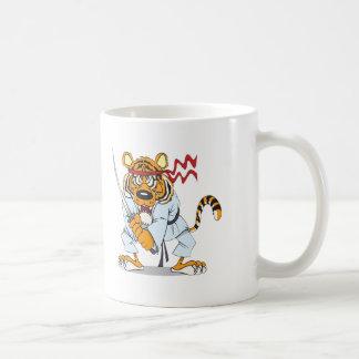 Samurai-Tiger Classic White Coffee Mug