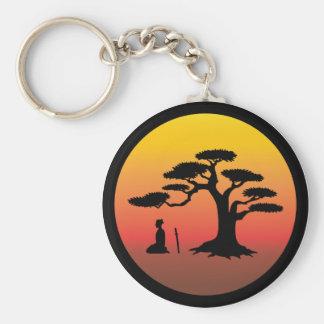 Samurai under Bonsai Tree - Keychain