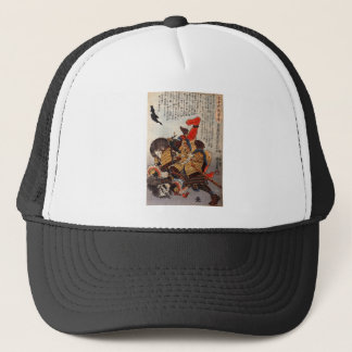 Samurai underwater fight, circa 1800's trucker hat
