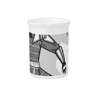 Samurai vector drink pitcher