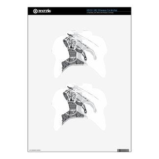 Samurai vector xbox 360 controller decal