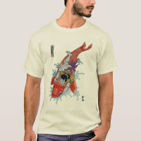 Samurai vs. giant koi fish T-Shirt