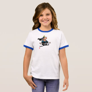 Samurai vs Ninja: Little Pig Ringer T-Shirt
