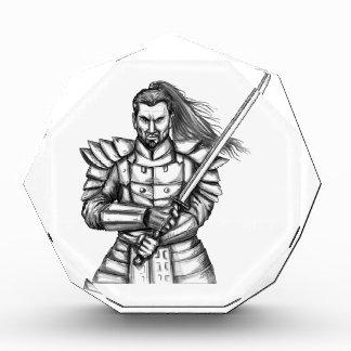 Samurai Warrior Fight Stance Tattoo Acrylic Award