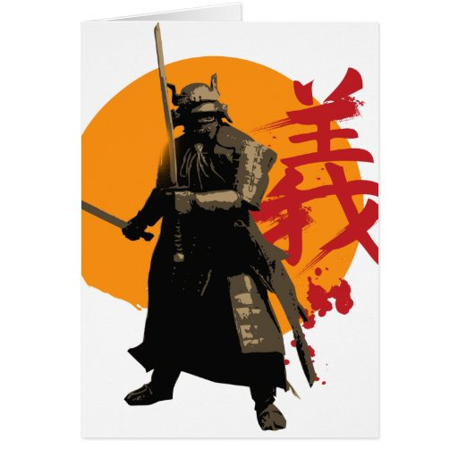 Samurai Warrior Greeting Card
