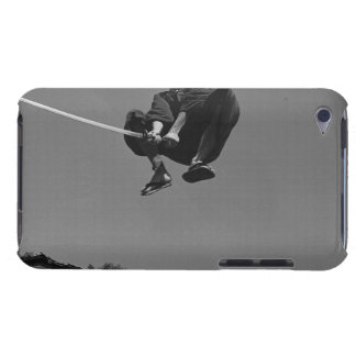Samurai warrior jump attack with a sword 3 iPod Case-Mate case