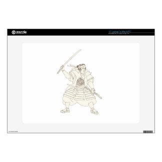 "Samurai Warrior Katana Fight Stance Woodblock Skins For 15"" Laptops"