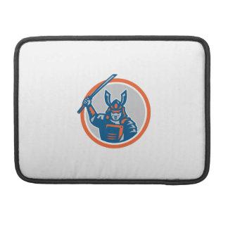 Samurai Warrior Katana Sword Circle MacBook Pro Sleeve