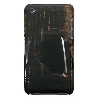 Samurai warrior prepares to fight with a sword 2 barely there iPod cover