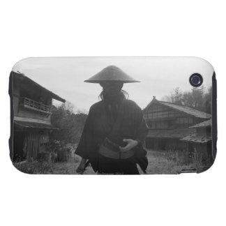 Samurai warrior standing, holding a swoard 3 iPhone 3 tough case