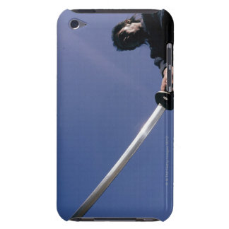 Samurai warrior strikes an ack with a sword 3 iPod touch Case-Mate case