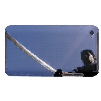 Samurai warrior strikes an attack with a sword 3 barely there iPod covers