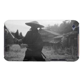 Samurai warrior strikes an attack with a sword 4 iPod touch Case-Mate case